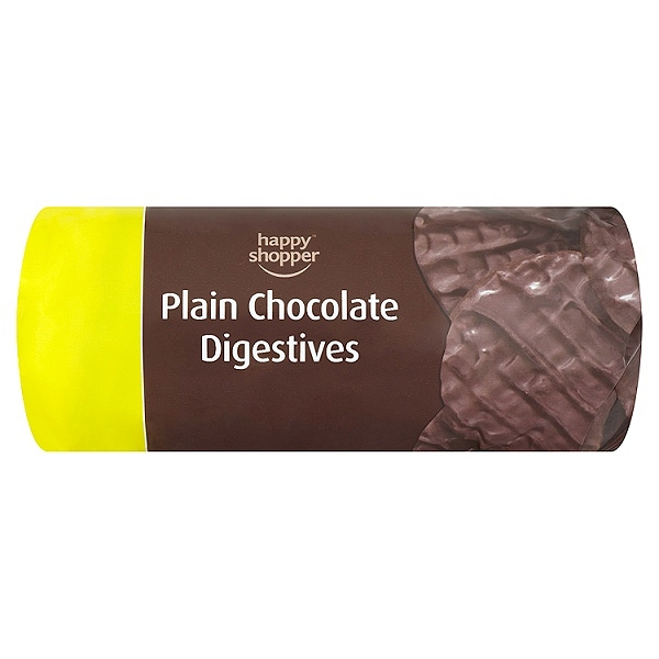 Happy Shopper Plain Chocolate Digestives 200g (12 Packs)