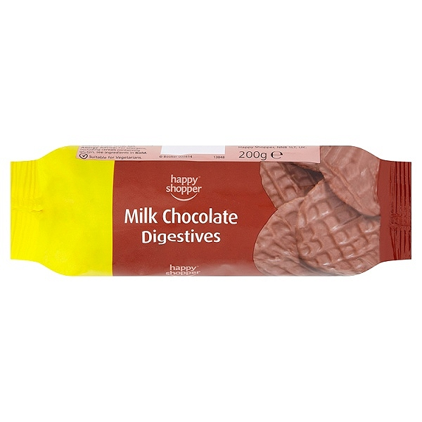 Happy Shopper Milk Chocolate Digestives 200g (12 Packs)