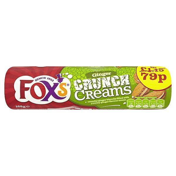 Fox's Ginger Crunch Creams 168g (12 Packs)