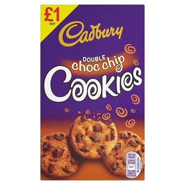 Cadbury Double Choc Chip Cookies 150g (6 PACKS)