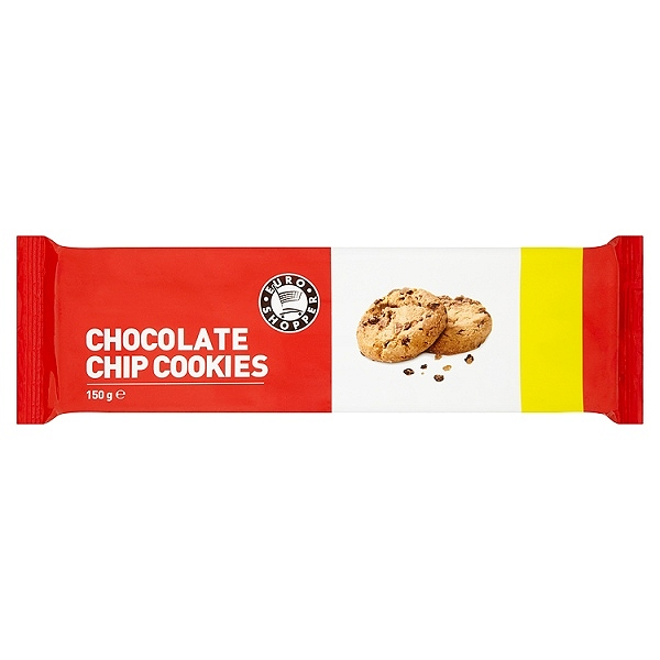 Euro Shopper Chocolate Chip Cookies 150g (11 PACKS)