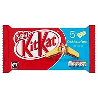 KITKAT 2 Finger Cookies & Cream Chocolate Biscuit Bar 5 Pack (18 Packs)