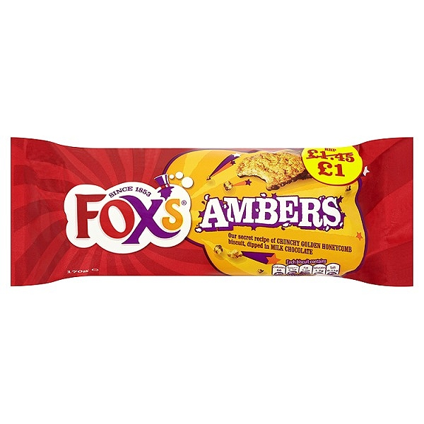 Fox's Ambers 170g (9 PACKS)