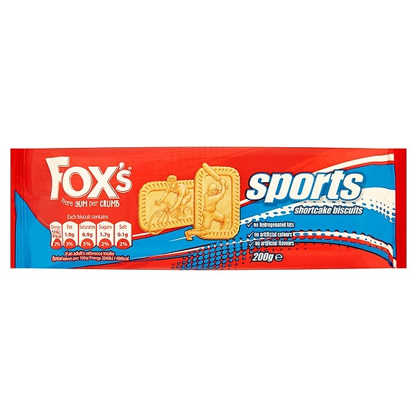Fox's Sports Shortcake Biscuits 200g(12 PACKS)