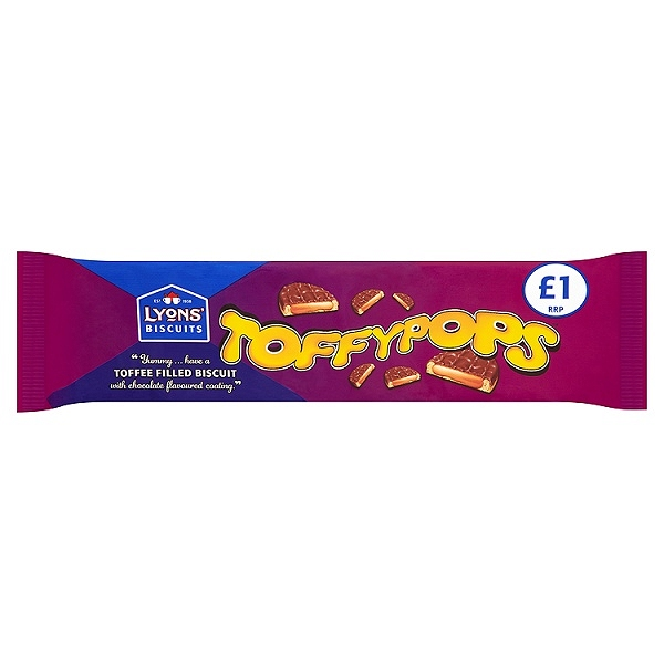 Lyons' Biscuits Toffypops 120g (12 Packs)