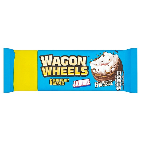 Wagon Wheels 6 Individually Wrapped Jammie (16 Packs)