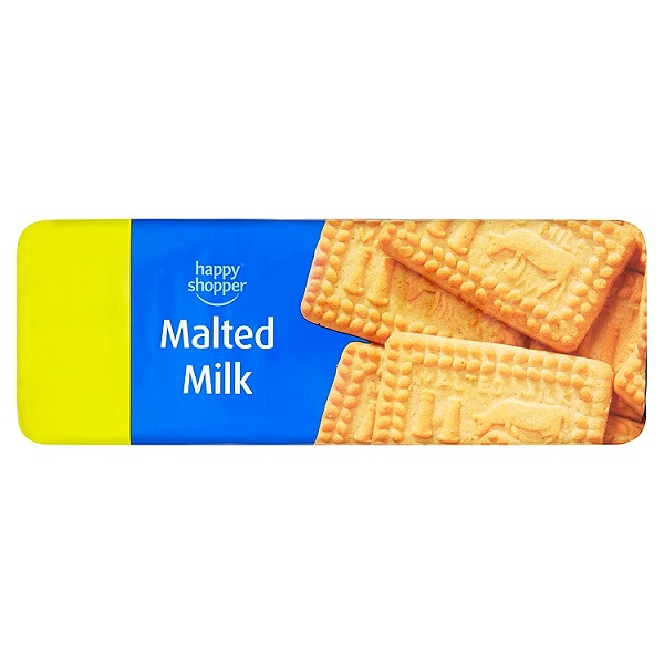 Happy Shopper Malted Milk Biscuits 200g (12 Packs)